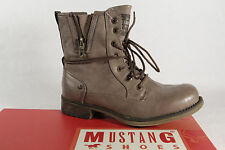 Mustang 1139 Boots Ankle Boots with zipper, taupe, lined new