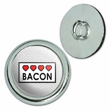 Metal Craft Sewing Novelty Buttons Set of 4 Food Drink Bacon Coffee