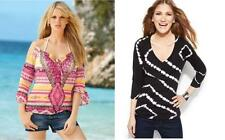 Inc international concepts top blouse sz XL / XS black / multi-color