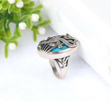 Antique Jewelry Retro Oval Resin Crystal Rhinestone Musical Note Finger Ring
