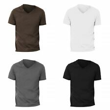 Canvas Mens Jersey Short Sleeve V-Neck Cotton Tee T-Shirt 7 Clr S-2XL