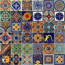 Mexican Tile Handmade Talavera Backsplash Handpainted Mosaic Assorted Desings