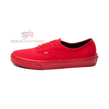 New Mens 12 Vans Era Slip On Skate Canvas Red Mono Black Sk8 Van Doren October