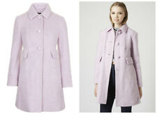 BNWOT Topshop Women's Wool Mohair Blend Lilac Fitted Coat  Sizes UK6-12 RRP £89
