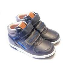 Toddler Boys Dark Blue Leather High Top Trainer Boots | Geox Baby Flick Boy