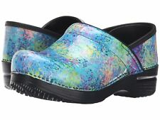 Dansko Professional Speckled Patent Leather Nurses/Doctor/Chef Shoes Clogs Klog