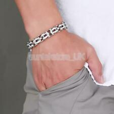 Mens Gift Jewelry Stainless Steel Bicycle Chain Hand Chain Charm Bangle Bracelet