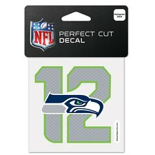 """NFL Seattle Seahawks """" 12TH Man"""" Wincraft 4"""" X 4"""" Multi-Use Peel-Off Decals NEW"""