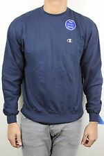 Champion Mens Double Dry Navy Blue Gray C Pullover Crew Neck Sweatshirt NWT