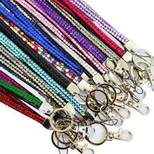 Quality Bling Lanyard Rhinestone Diamante Crystal Neck ID Card Mobile Holder