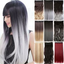 Real Thick Clip in Human Hair Extensions Extension As Human Synthetic Hair Lady