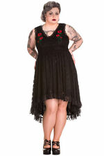 Spin Doctor Selena Maxi Dress Black Lace Long Gothic Rose Steampunk VTG Witch
