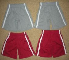 4 pairs TCP The Childrens Place RED GRAY elastic waist GYM SHORTS boys 4T/4 LOT