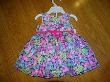 Carter's Floral Dress & Bloomers Set Baby Girl Sizes 3/9/12/18 Months NWT