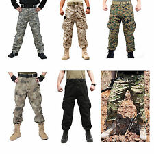 Mens Military Army Designer Sports Camo Camouflage Combat Cargo Trousers Pants