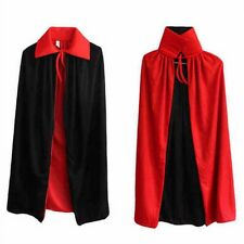 Fancy Costume Adult Man Woman Halloween Party Cape Cloak Vampire Devil Witch