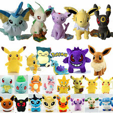 Pokemon Go Pikachu Eevee Squirtle Plush Stuffed Animal Toys Doll Baby Child Gift
