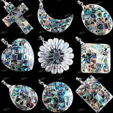 MOP Mother of Pearl MOP Shell Beads Charm Abalone Shell Pendant For Necklace DIY