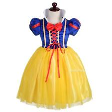 Princess Snow White Costume Halloween Party Fancy Dress Up Girl Size 4y-9y FC052