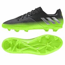 adidas Mens Gents Messi 16.2 Firm Ground Football Boots - Dark Grey/Silver/Green