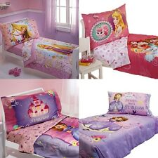nEw DISNEY PRINCESS TODDLER BEDDING - Girls Fairy Tale Comforter Sheets Set