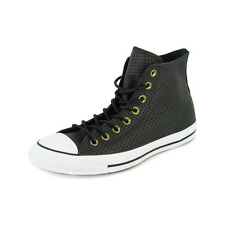 New Men's Converse Chuck Taylor Perforated Leather Hi Black/white Footwear Hi-to