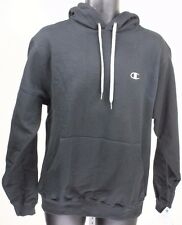 Champion Eco Fleece Black / Light Gray C Mens Hoodie Sweatshirt NWT