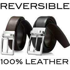 Brand New Reversible Mens Dress Formal Wedding Black & Brown Belt RRP 69.95