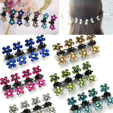 12 Pcs Crystal Flower Mini Hair Claw Clamp Hair Clip Hair Pins Hair Accessory HQ