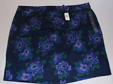 women's NWT GAP Navy Blue with Purple Floral  Skirt size 1 2