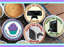 24 PERSONALISED PLAYSTATION 5 CUPCAKE TOPPER RICE, WAFER or ICING
