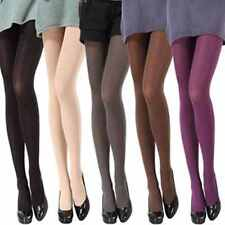 Women Girl Opaque Footed Tights Sexy Pantyhose Plain Stockings Socks 14 Colours