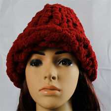 Winter Girl Wool Hat Cut Ski Beanie Cap Comfortable Warmth Fashion Solid Color