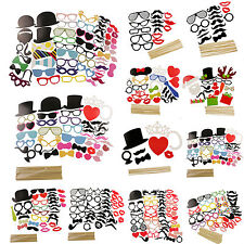 DIY Masks Photo Booth Props Mustache On A Stick Wedding Party Xmas Fun Favor Lot
