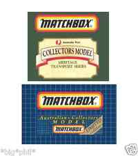 Matchbox Australian Collectors Model Limited Edition's (inc. Australia Post)