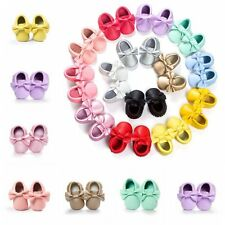 Baby Toddler Infant Boy Girl Soft Sole PU Leather Shoes Moccasin Crib Shoes Baby