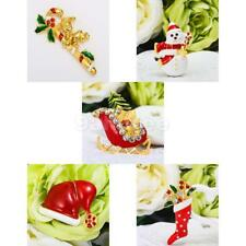 Gorgeous Enamel Christmas Brooch Pins Xmas Decoration