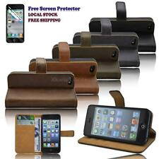 Smart PU Leather Wallet Stand Case Cover for iPhone 5 iPhone 5s FREE Protector