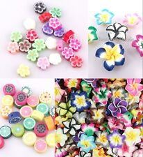 50/100pcs New Arrival Mixed Polymer Fimo Clay Fruit lily Flowers Spacer Beads