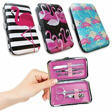 Retro Kitsch PINK FLAMINGO Manicure Kit ~ Rockabilly Pinup Beauty Tools + Case