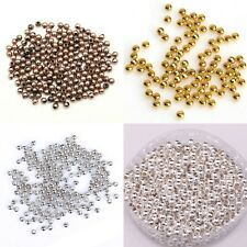 200pcs Smooth Seamless Copper DIY Findings Spacer Beads 3mm Jewelry Making