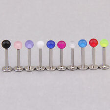 1pc Labret Ball Lip chin Ring Stud Bar Body Piercing jewelry Stainless Steel 1cm