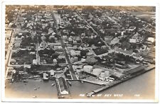 Real Photo Postcard Air View of Key West, Florida~98650