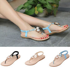 Elegant Women's Bohemia Flat Shoes Beach Sandal Thong Slippers Flip Flops Shoes