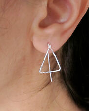 TRIANGLE sterling silver, yellow or rose gold filled dangle earrings