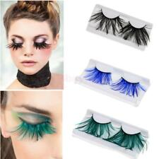 Women Costume Feather Luxury Halloween Party Fake False Eyelashes Eye lashes