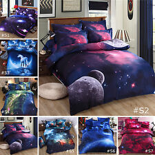 NEW 3D Printed Twin Queen Size Bed Set Quilt Duvet Cover Galaxy Sky Cosmos Night
