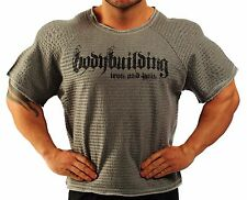 GREY HARDCORE WORKOUT TOP BODYBUILDING CLOTHING