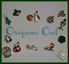 Origami Owl Christmas Halloween Charms PENGUIN  Letter to Santa Tree Sleigh NEW