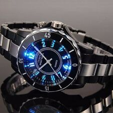OHSEN Men's 7 Modes Changing LED Backlight Casual Quartz Wrist Watch Waterproof